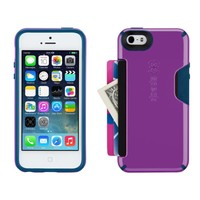 Speck Products CandyShell Card Case for iPhone 5/5S  - Revolution Purple/Deep Sea Blue