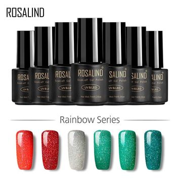 ROSALIND Gel 1S 7ML Nail Art Rainbow Fashion Long-lasting Gel Nail Polish Semi Permanent Gel Varnish for Nail Set