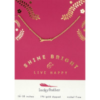Shine Bright Arrow - 14K Gold Dipped Necklace