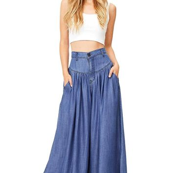Deep And Wide Denim Pants