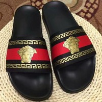 Versace men and women Cloth slippers