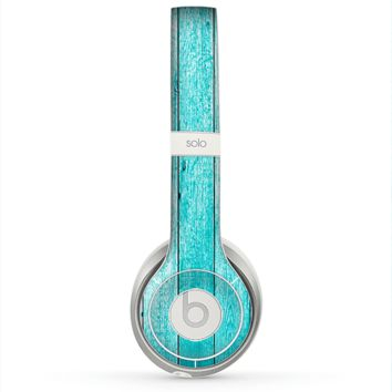 The Trendy Blue Abstract Wood Planks Skin for the Beats by Dre Solo 2 Headphones