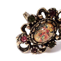 Opal Sarah Coventry Ring - Large Vintage Adjustable Ring