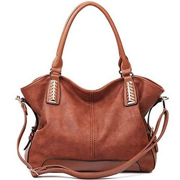 Women Handbag Hobo PU Leather Tote Large Shoulder Bag