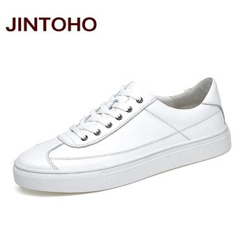 Men Genuine Leather Shoes Casual Leather Shoes For Men White Shoes Fashion Loafers Men Flats