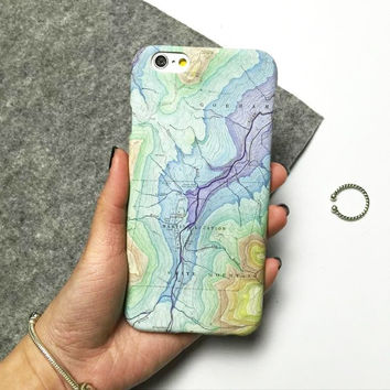 World Map Cover Case For Iphone 5 5s 6 6s 6Plus 6s Plus + Free Shipping + Gift Box