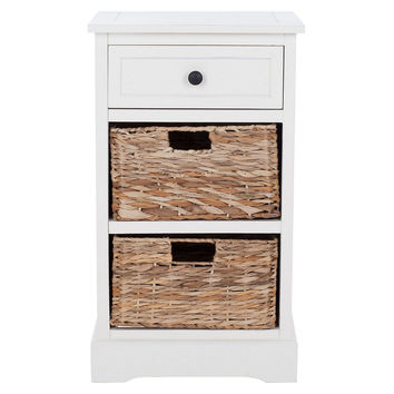Kendall Side Storage Table, White, Nightstands