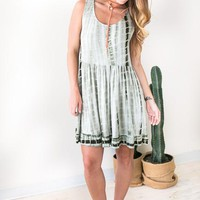 Tie Dye Fields Babydoll Dress