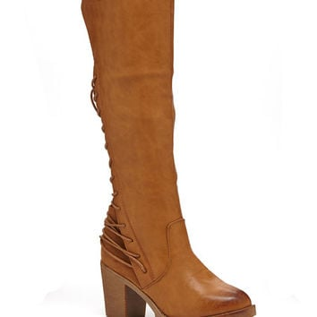 Bucco Cognac Lace-Up Rimaline Boot | zulily