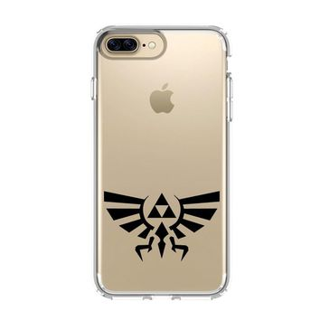 TRIFORCE LEGEND OF ZELDA LOGO iPhone 4/4S 5/5S/SE 5C 6/6S 7 8 Plus X Clear Case