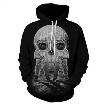 Hoodies  Summer Autumn Party Women Sweatshirt Skull Girl Tracksuit O-neck Female Clothes Suit