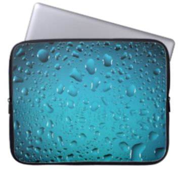 Cool Blue water drops Laptop Sleeves
