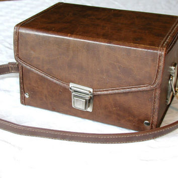 Brown Camera Case Vintage Boxy Tote