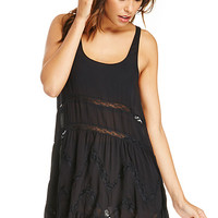 DailyLook: DAILYLOOK Voile Tunic in Black XS - L