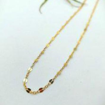 14k Gold Filled Choker 13-16""
