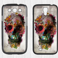 Sugar Skull Samsung Galaxy S3 S4 Case,Colorful Floral Skull Galaxy S3 S4 Hard Case,cover skin Case for Galaxy S3 S4,More styles