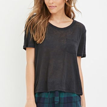 Ruffled Plaid PJ Shorts