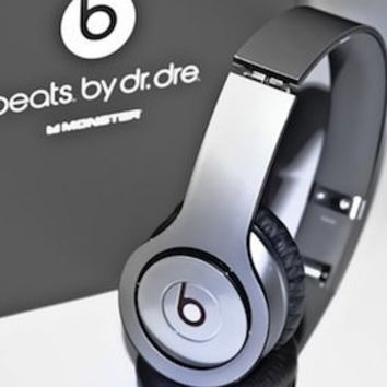 New! Metallic Silver Skins for Solo / Solo HD Beats By Dr. Dre - (Skin Kit ONLY - Headsets Not Included)