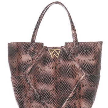 Paint the Town Tote in Espresso Boa