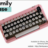 Vintage PInk Typewriter iPhone 4 Case (inspired) , Retro Type Writer iPhone 4S Case, Art iPhone 4 Cover , iPhone 4 Hard Plastic Case