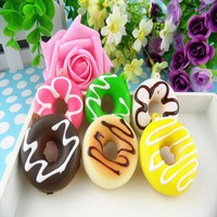 5cm Cute Soft Mini Donut Cone Squishy Slow Rising Cell Phone Straps Bread Antistress Scented Key Pendant Charms Kids Toys JK581
