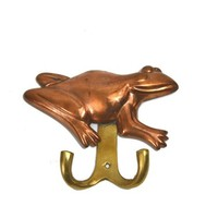 Vintage Copper Frog Towel Hook Frog Wall Hook Copper Frog Wall Hook Frog Apron Hanger Farmhouse Decor