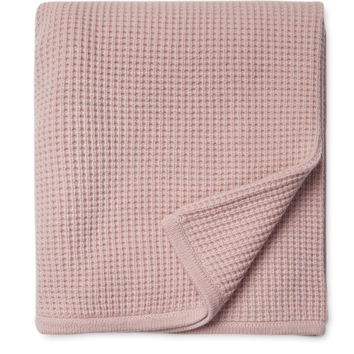 Sofia Cashmere Thermal Cashmere Throw - Pink