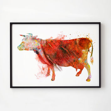 Farm art Animal print Cow decor EM308