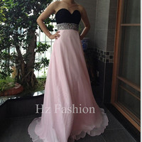 Sweetheart Neckline Pink Long Formal Prom Dress/Evening Gown/2014 Party Dress