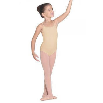 Bloch Girl's Nude Camisole Leotard