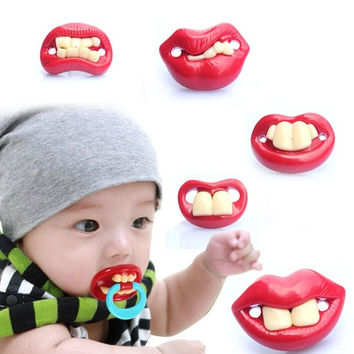 Hot Funny Teeth Baby Boy Girl Pacifier Orthodontic Dummy Nipples New = 1705950980