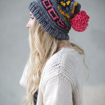 A Storyline Knitted Beanie
