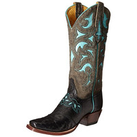 Cinch Classic Womens Hollis Leather Detail Stitching Cowboy, Western Boots