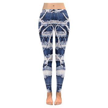 print jeans Low Rise Leggings (Invisible Stitch) (Model L05)