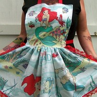 Ariel Apron The Little Mermaid Retro Ruffle Reconstructed
