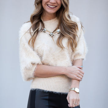 Hide And Go Chic Cropped Fur Sweater