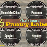 36 Chalkboard Pantry Labels - Instant download - Printable PDF - 8.5 x 11'' - Easy Organizing