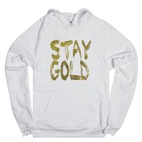 Stay Gold-Unisex White Hoodie