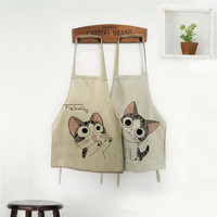 Lovely Cooking Apron Funny Novelty BBQ Party Apron Naked Men Women Cat Cheeky Kitchen Cooking Apron