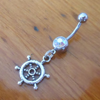 Belly button ring - Ships Wheel Belly Button Ring