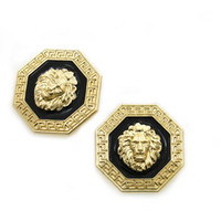 ROIAL Lion Octagon Earrings