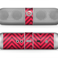 The Red & Black Sketch Chevron Skin for the Beats by Dre Pill Bluetooth Speaker