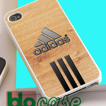 Wood Adidas Logo For Iphone 4/4s, iPhone 5/5s, iPhone 5C, iphone 6, and iPhone 6 Plus Case
