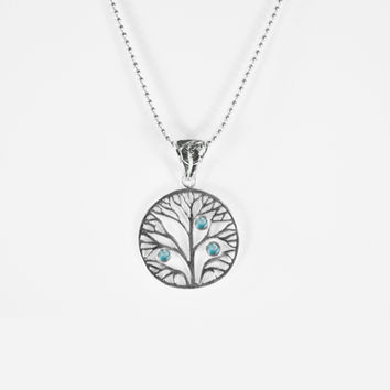 Silver Trendz Tree of Life Necklace in Sterling Silver