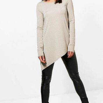 Tall Emily Wide Ribbed Long Sleeve Top | Boohoo