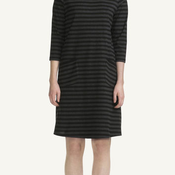 TIIA MARIMEKKO DRESS BLACK/CHARCOALGREY