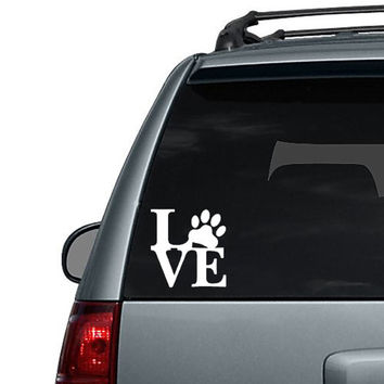 Love Dog Paw - Car Decal Sticker