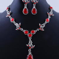 ELITE Luxury Vintage statement jewelry set necklace earrings  Fashion Chic