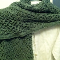 Lacy Wrap in Green Thread