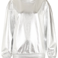 Metallic Sweat By Tee And Cake - Sports Luxe - Clothing - Topshop USA